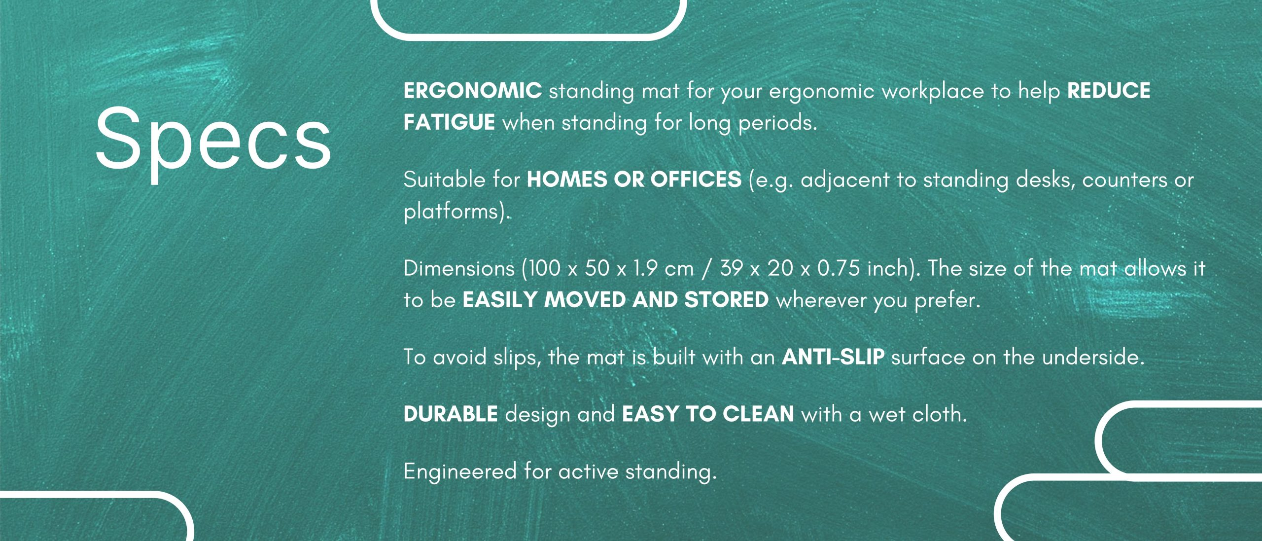 Standing Mat Specifications